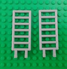Lego Large Grey 2x6 Ladders w Clips Castles Buildings Farms Sheds - 2 pieces