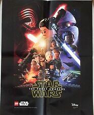 New Disney LEGO Star Wars Force Awakens Folded Poster 2016