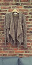 🔥🔥 HOLLISTER XS Brown Bobble Knit Tassle Open Cardigan Cosy Slouch