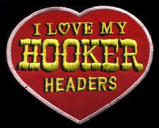 Hooker Headers Patch automotive Hot Rod Drag Race Mechanic Heart