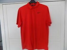 NIKE GOLF DRI FIT  POLO TOP RED LARGE