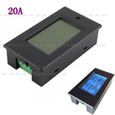 Hot DC6.5-100V20A 4 in 1 LCD Digital Combo Panel Meter Voltage current KWh watt