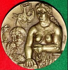 PAINTER PICASSO / GREATEST ARTIST CENTURY 20TH / BRONZE MEDAL BY AMARAL