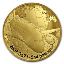 2017 1/4 oz Prf Gold €50 Aviation & History (Airbus A380)