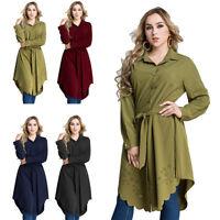Muslim Women Blouse T-shirt Casual Long Sleeve Shirt Dress Tops Laper Plus Size