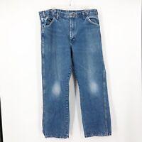 Dickies Mens Blue High Rise Medium Wash Straight Leg Denim Jeans Size 36X30