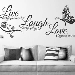 Live Laugh Love Family Home Quote Wall Stickers Art Room Removable Decals Hot E