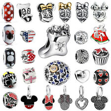 Mickey&Minnie Pendant 925 silver charms bead For sterling DIY bracelet Necklace