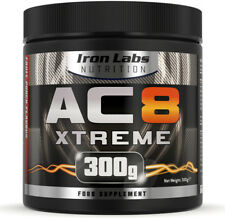 AC8 Xtreme | Fruit Punch | Pre Workout Supplement | Energy & Muscle | 300g