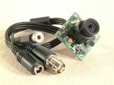 "AV436 Mini Board Camera 1/4"" CCD with Audio - New complete with cable!"