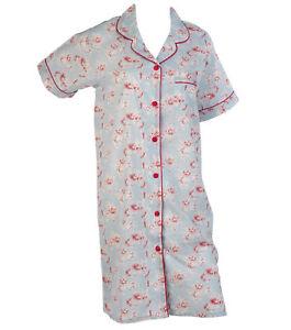 Nightshirt Combed Cotton Ladies Vintage Floral Nightie Lightweight Nightwear