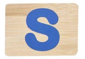 "Everearth Bamboo Letter Train ""Letter S"" Brand New"