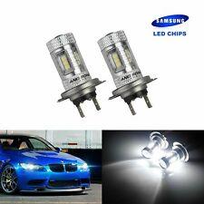 2x H7 Ampoule  15W LED Blanc Feu anti brouillard DRL VW BMW Mercedes Audi