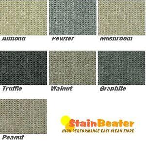 Berber Style Loop Pile Carpet Stain Resistant Hard Wearing Lounge Stairs Bedroom