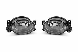 Mercedes-Benz CLK 05-09 Front Fog Lights Lamps Set Left Right With Bulbs