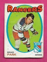 1971-72 OPC # 40 RANGERS BRAD PARK VG  CARD (INV# C7586)