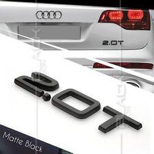 MATTE BLACK 2.0T REAR BOOT TRUNK LOGO LETTER EMBLEM BADGE FOR AUDI QUATTRO SLINE