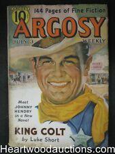 Argosy Jul 03, 1937 Cornell Woolrich, Luke Short, George Challis, Richard Wormse