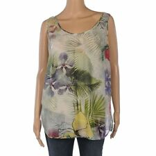 Silk Casual Floral Regular Size Tops & Shirts for Women
