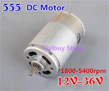 DC 555 Motor 12V-36V 24V Permanent Magnet 3.25mm Shaft DIY Small Electic Drill