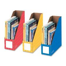 "Fellowes Magazine File Holders Ltr 4""x11""x12-1/4"" 3/PK Ast 3381701"