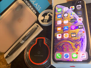 Apple iPhone XS MAX (64gb) Cricket/ AT&T (A1921) Silver: OpenBox {iOS13}95% MiNT