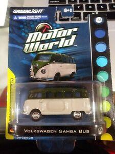 Greenlight Motor World Volkswagen Samba Bus Classic Series WHITE/GREEN