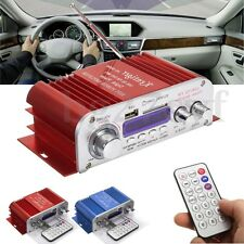 LED Mini 12V Audio Stereo Amplifier Car Home FM Radio MP3 USB SD Speaker Player