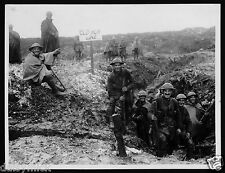 British Army Soldiers Front Line Trench World War 1, 6x5 Inch Reprint Photo