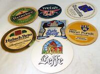 Hubsch LeFFe Hoegaarden Welsh Heineken vintage Mix Bar Coaster Beer lot 7
