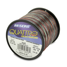 Hi-Seas Quattro Monofilament Line, 4 Color Camouflage, 30 Pound Test, 1/4-Pound