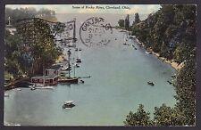 Circa 1910 Vintage Postcard Scene of ROCKY RIVER, CLEVELAND Ohio United States