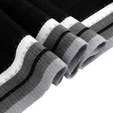 Mens Classic Winter Knit Scarf Warm Long Striped Shawl Black & White