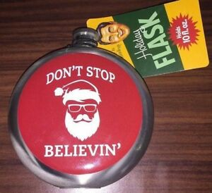 Wembley Men's Holiday Party Flask- red-