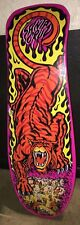 Hot Pink Santa Cruz Steve Alba SALBA Tiger skateboard Deck Old School Re-issue