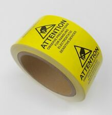 3000 ESD 2 X 2 LABELS ATTENTION ELECTROSTATIC SENSITIVE STATIC WARNING , 6 ROLLS