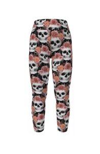 Lularoe TC2  Leggings Halloween Ghoul 2020 Roses Skulls NEW