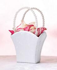 Elegant Wedding flower girl  Basket White