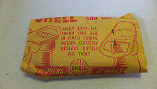 Shell Gas Bottle Opener & Resealer NOS New Sealed Paper Envelope Vintage