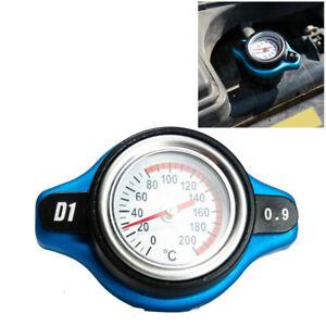 Thermost Radiator Cap Cover + Water Temp Gauge Meter 0.9 Bar Small Head Car Kit