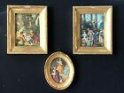 Vintage Framed GOLD ITALY Antique Frames Wall ITALIAN Floral Figures FLORENTINE