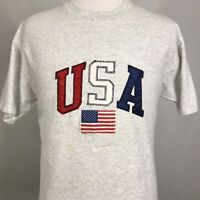 Military Flag EMBROIDERED T-Shirt Sport Gray   *Grey* US Blacked out American