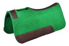 Western Hunter Green Wool Felt Saddle Pad 32 x 32 (20MM