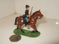 Little Legion ACW Mounted Union Soldier Advances with Rifle in 1:32 scale (54mm)