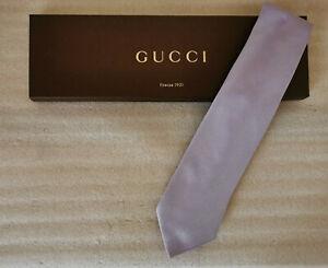 GUCCI - Silk Tie + Sa Box - Mauve Luminous - Perfect Condition