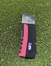 NWT NIKE NBA Miami Heat Grip Elite Basketball Socks SIZE LARGE