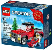 40083 HOLIDAY CHRISTMAS TREE TRUCK winter esclusive set 2013 lego city town