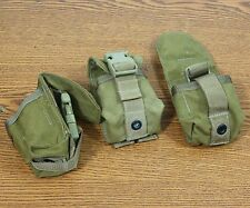 SET OF 3 MOLLE USMC TAPE MEASURE, WALLET POUCH COYOTE BROWN EAGLE IND.