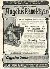 1905 World Famed Angelus Piano Player J Herbet Marshall Vintage Small Ad