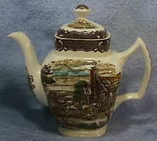 Wood & Sons The Post House Brown Coffee Pot with Lid  8 3/4""